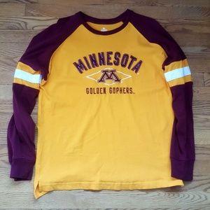 Minnesota Golden Gophers Long Sleeve T-shirt Sz L